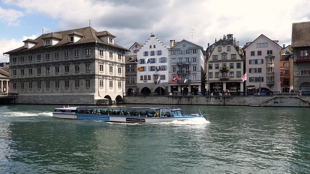 Zurich - Medieval old town and river limmat