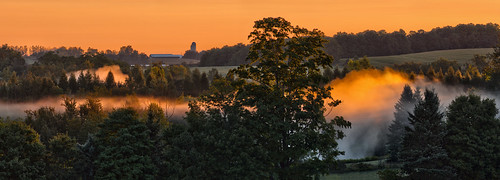 sunrise fog drumlins panorama wellingtoncounty ontario canada olympusomdem5 oloneo microsoftice gimp