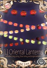 {L} Oriental Lanterns