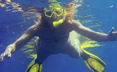 Snorkeler Floating
