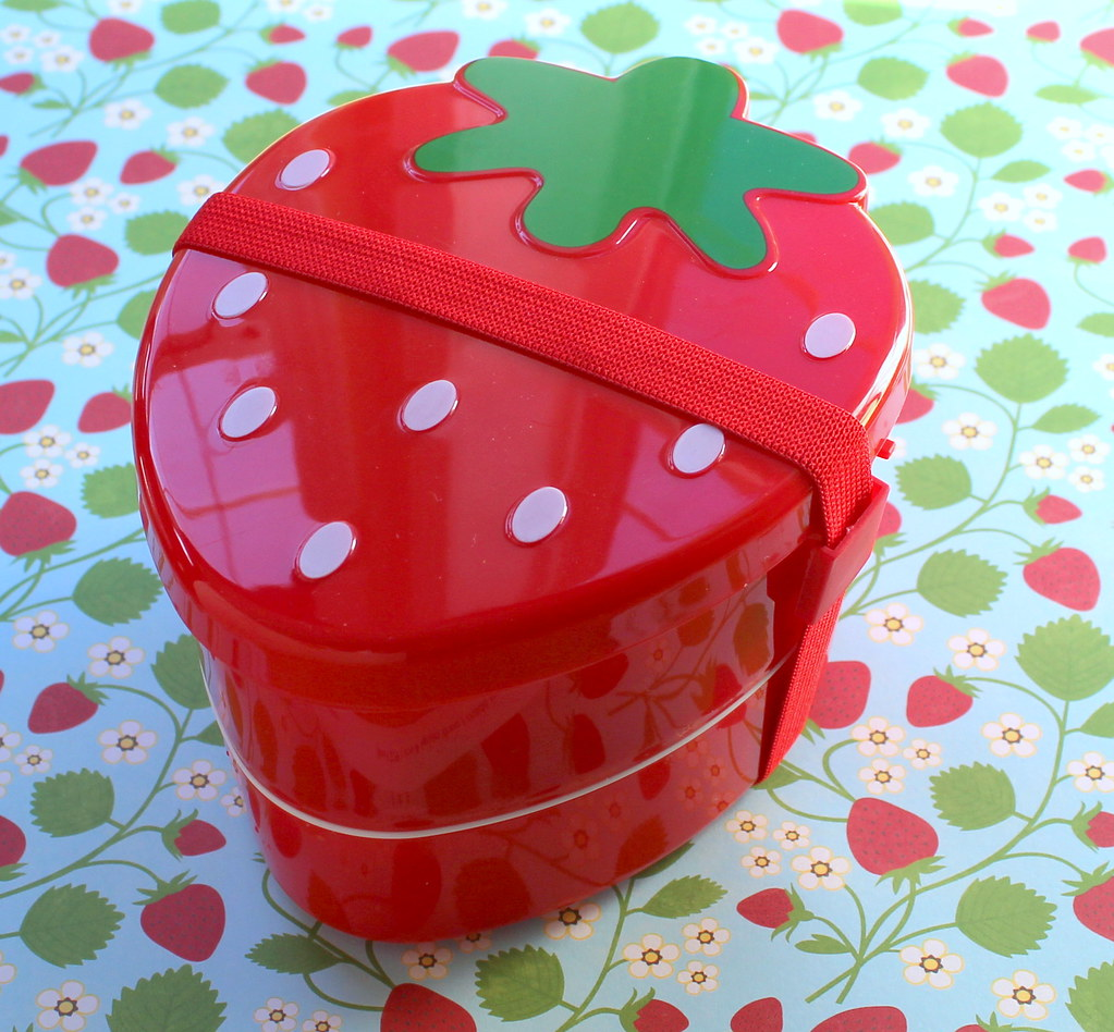 THINGS TO BUY IN JAPAN - bento boxes, two tier strawberry bento box