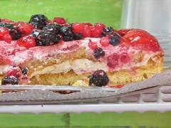 Renzo's berry cake