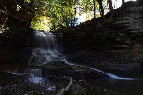 autumn ohio fall water landscape waterfall