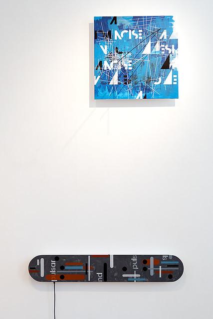 Pim Piët - Sticky Noise, 2014-2015 [R] | Pim Piët with Anna Mikhailova - Pulsar sound object, 2013 [L]