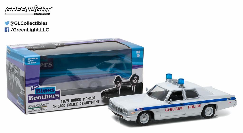 84012 - 1-24 Hollywood - 1975 Dodge Monaco Chicago Police
