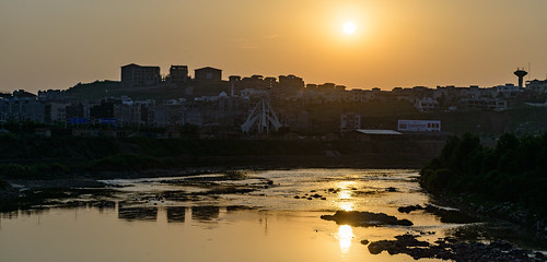 sunset islamabad pakistan reflection clock tower evening photo walk nikon d800 7020mm