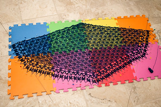 Cadfael Shawl (during blocking) | by Terriko