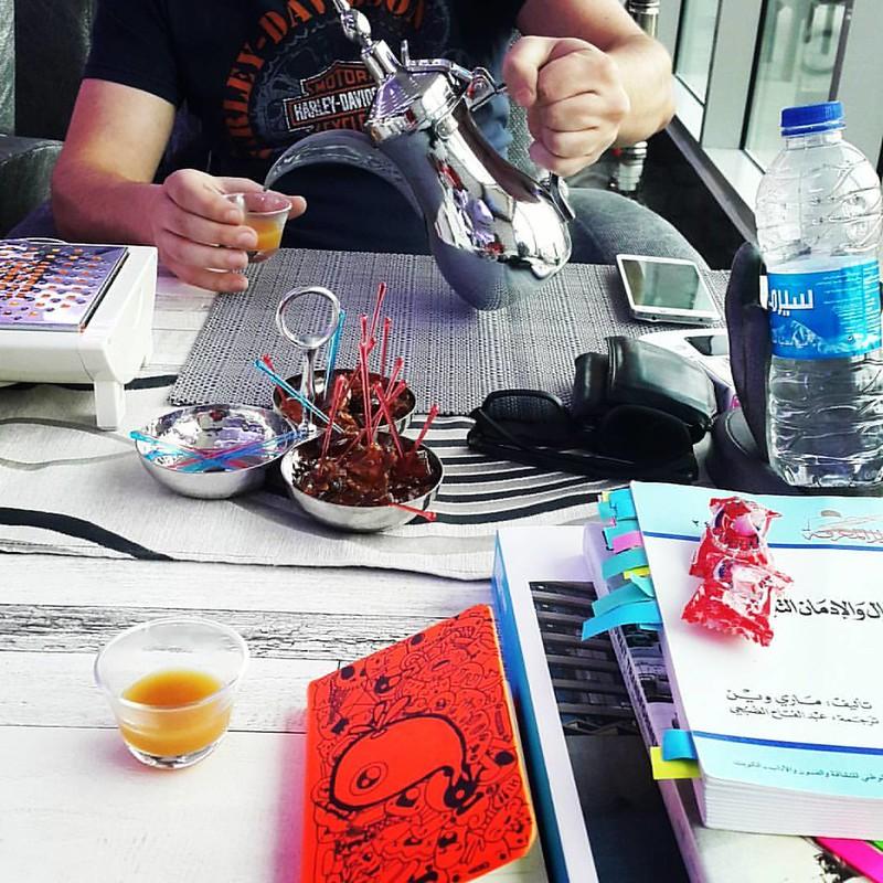 Break from research with arabian coffee and sheesha!  استراحة محارب من البحث و الاعداد بالاستعانة بالشيشة و القهوة العربية