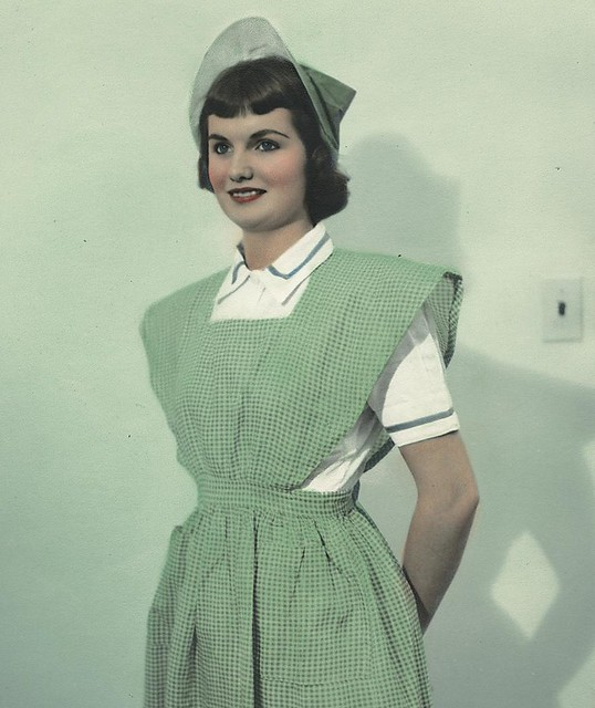 Nurse wearing uniform from Colombia