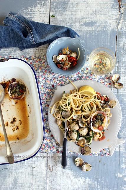 Spaghetti di mare con chorizo