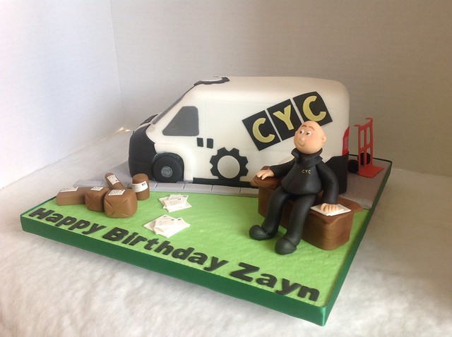Delivery Van Birthday Cake