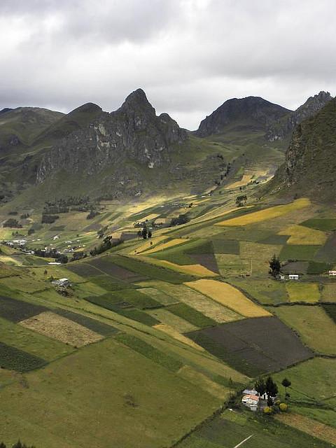 Los Andenes De Zumbahua Series De Terrazas De Cultivo Que