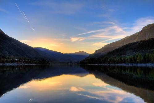 blue sunset summer sky canada mountains west river photography evening bc hugh dam lakes columbia valley robson arrow kootenays hdr castlegar keenleyside