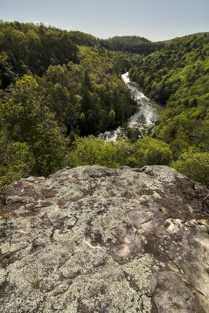 Lilly Bluff overlook, Clear Creek, Obed WSR, Morgan Co, TN