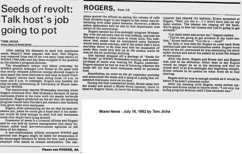 19820716 Seeds of Revolt - Talk host's job going to pot   by Neil Rogers Radio