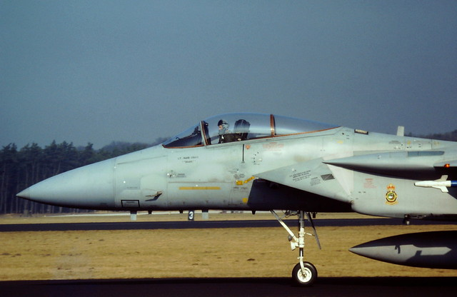 F-15C Eagle 79-0031/ CR from 32nd TFS USAFE. Soesterberg Air-Base, the Netherlands.