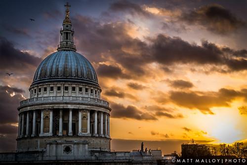 sunset london 50mm nikon cathedral f14 stpauls d600
