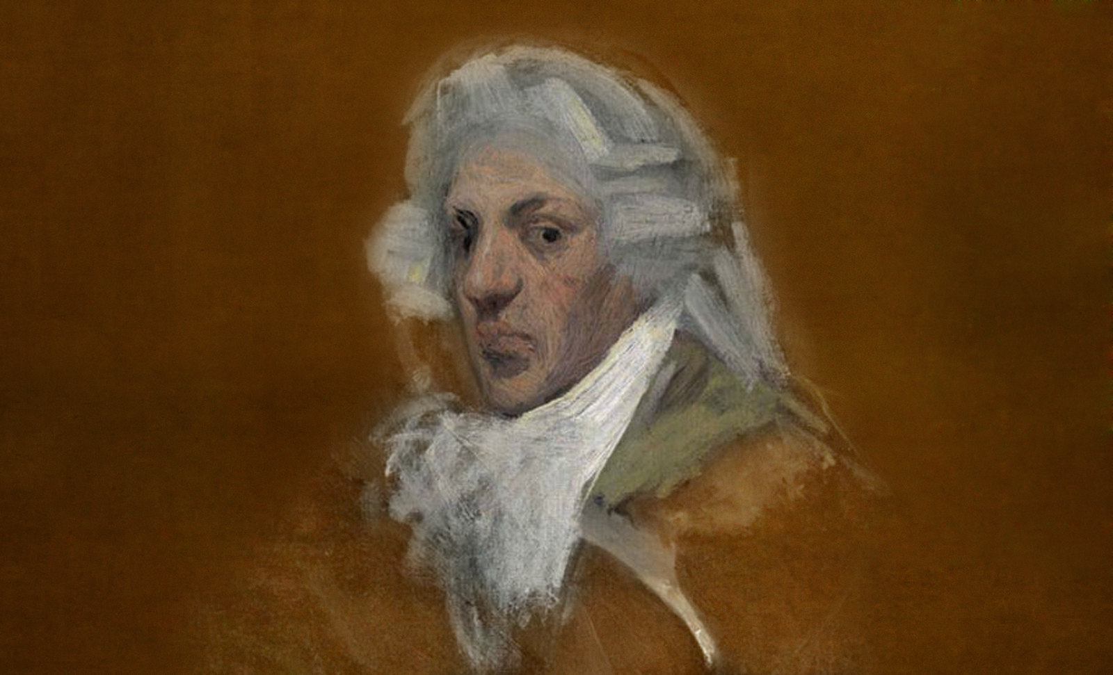 Majestades, prefiguración de Francisco de Goya y Lucientes (1800), caracterización de Pablo Picasso (1896).
