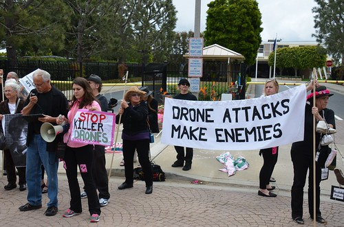 Drones protest at General Atomics in San Diego   by Steve Rhodes