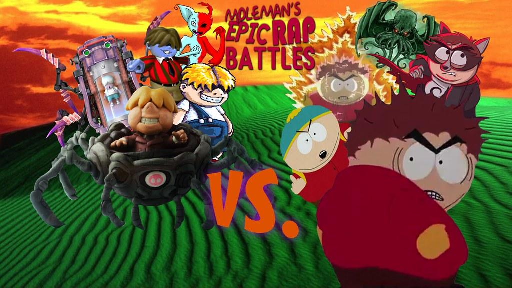 Moleman's Epic Rap Battles #38: Eric Cartman Vs  Porky Min