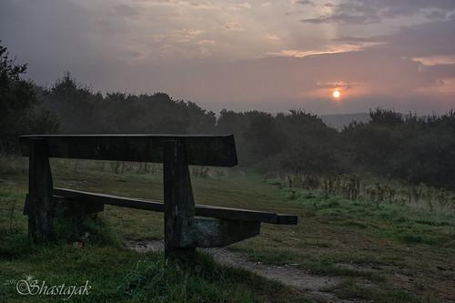 bench sunrise sunup rocklandsmeadow hastingscountrypark ecclesbourneglen