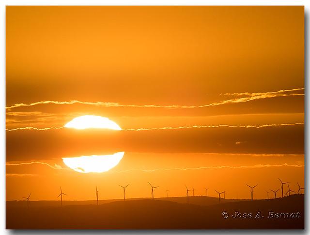 Puesta de sol. Pruebas con el Olympus 300 mm. f 4
