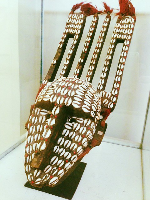 This one was unlabeled but I think it's a Dogon mask from Mali