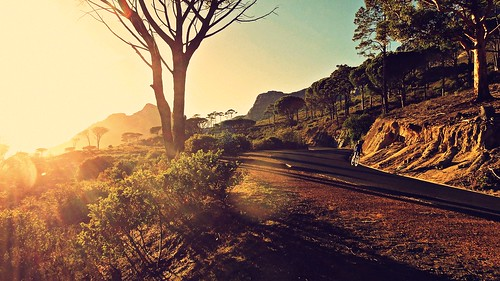 morning nature sunshine bicycle sunrise landscape southafrica sony capetown biker