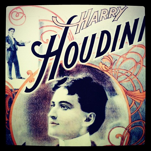 Harry #Houdini poster with sweet #typography. #visitfoxwi | by Peloria