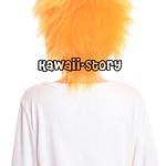 蜜芯圈cosplay万用毛 35cm反翘强悍造型 GHW01 金色系 橙黄色 F3 G系3副本