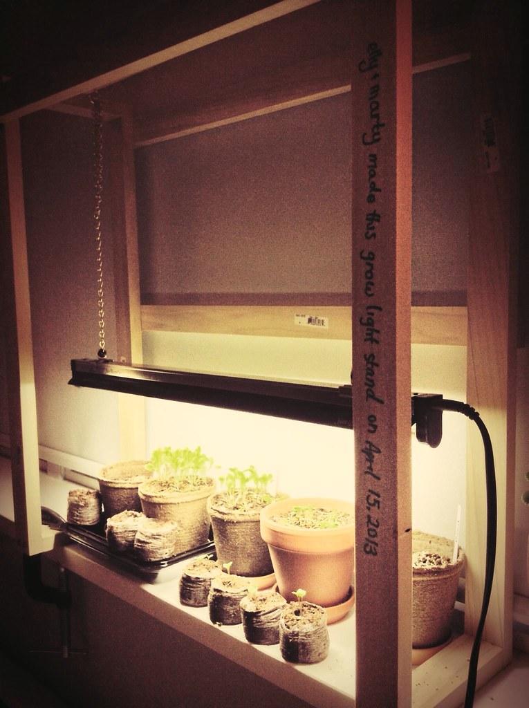 Diy Grow Light Stand Missellyrh Flickr