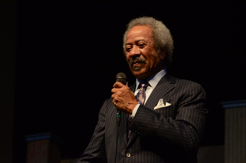 Allen Toussaint during BB KIng's set.  Photo by Hunter King.