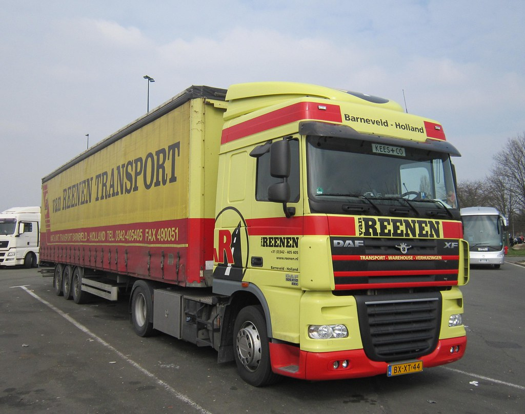 Van Reenen Barneveld.Daf Xf105 410 Space Cab Van Reenen Transport Barneveld N