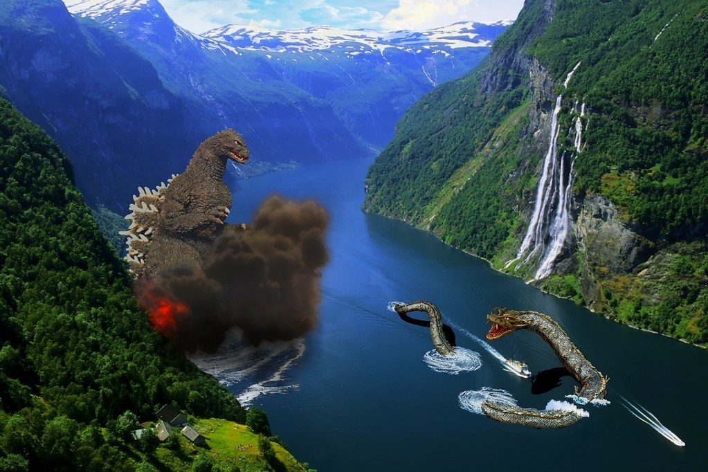 Godzilla Vs Manda In Norway Wallpaper By Wogzilla Flickr