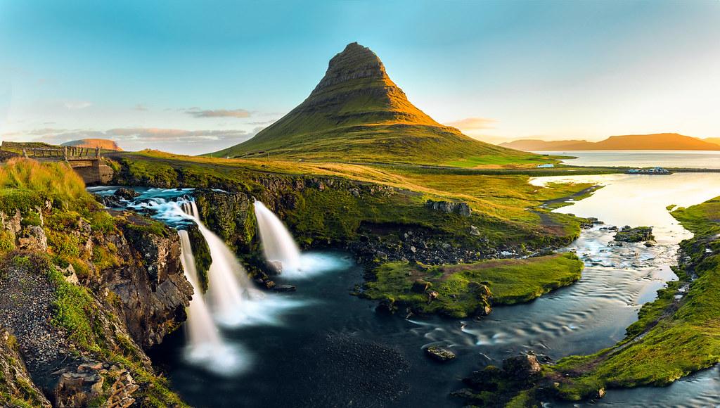 Golden Kirkjufell, Iceland.