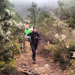 Course Nature et Vins 2013, parcours de reconnaissance : ascension du Massif de Fontfroide