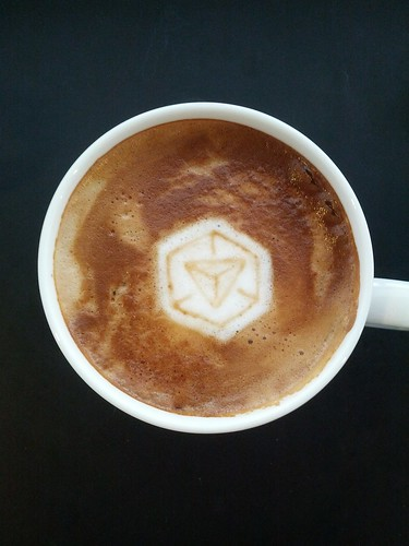 Today's latte, Ingress | by yukop