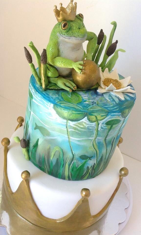 Brilliant Frog Prince Birthday Cake Fondant Covered Cakes Hand Pain Flickr Funny Birthday Cards Online Necthendildamsfinfo