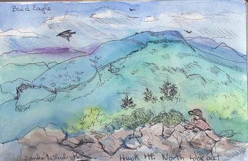 original art landscapes pennsylvania birdsanctuary hawkmountain pleinaire mixedmediaart sketchbookart