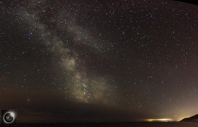 Milky Way Mosaic from Lyme Regis 03/08/18