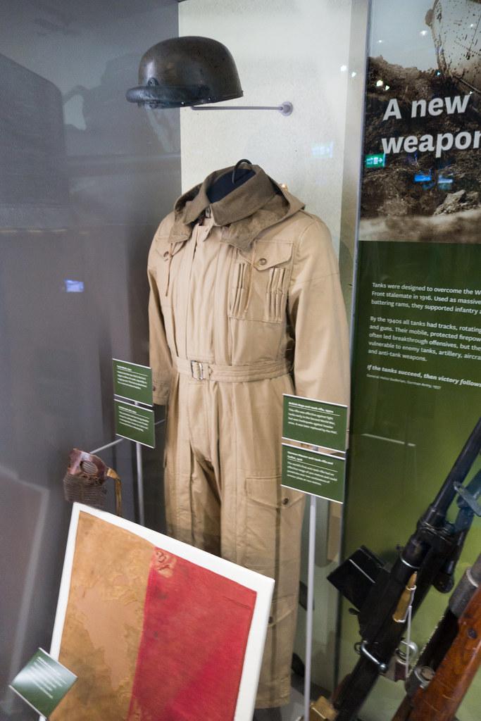 WWII British tanker uniform | Royal War Museum, London, 2017