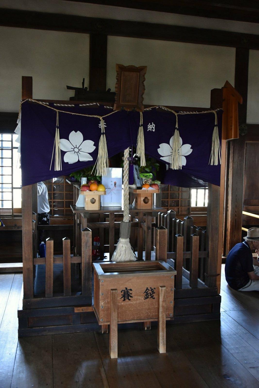 Château d'Himeji - Autel au dernier étage
