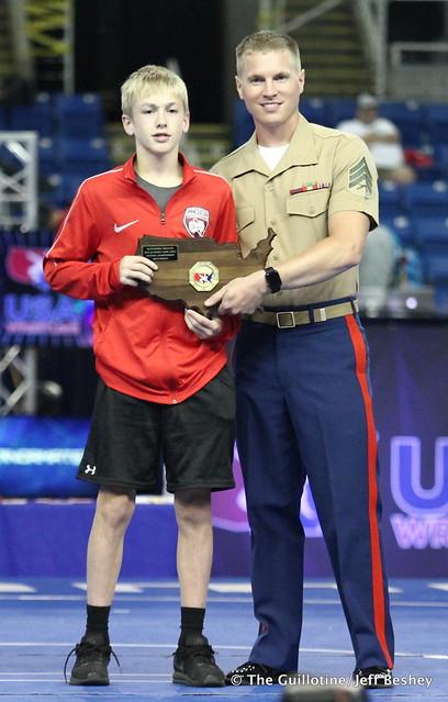 Tournament OW - 94 pounds Mason Gehloff of Minnesota 180719AJF0200