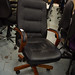 Leatherette swivel chair cw arms E100