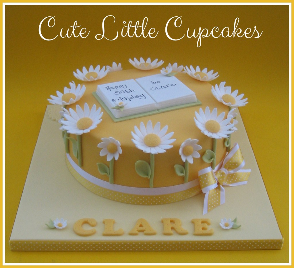 Awe Inspiring Daisy 50Th Birthday Cake Heidi Stone Flickr Funny Birthday Cards Online Alyptdamsfinfo