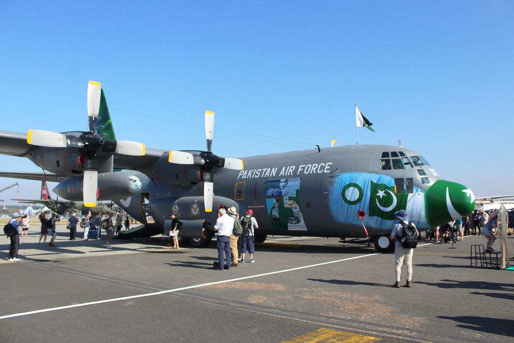 Pakistan Air Force C 130E Hercules 4178 Static , Royal Int