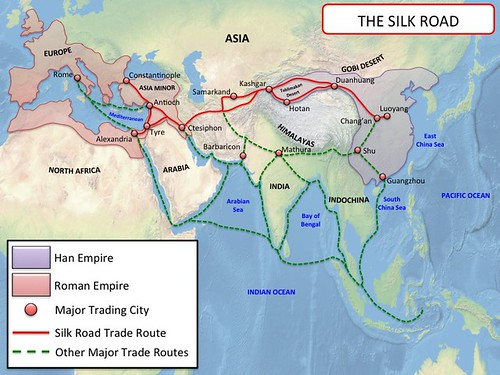 China - Silk Road Map | by History Maps