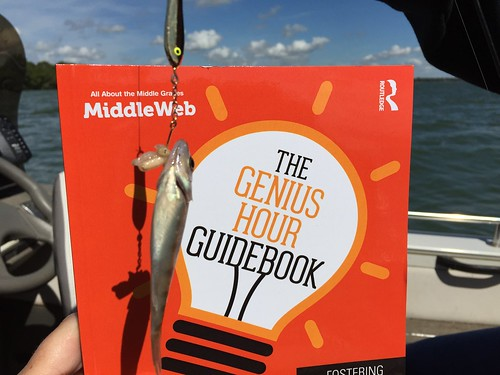 Friday Fishing & Reading. As you can see, the reading about #geniushour outweighed the fishing, but I enjoyed them both! #tfotofri   by kristinefull