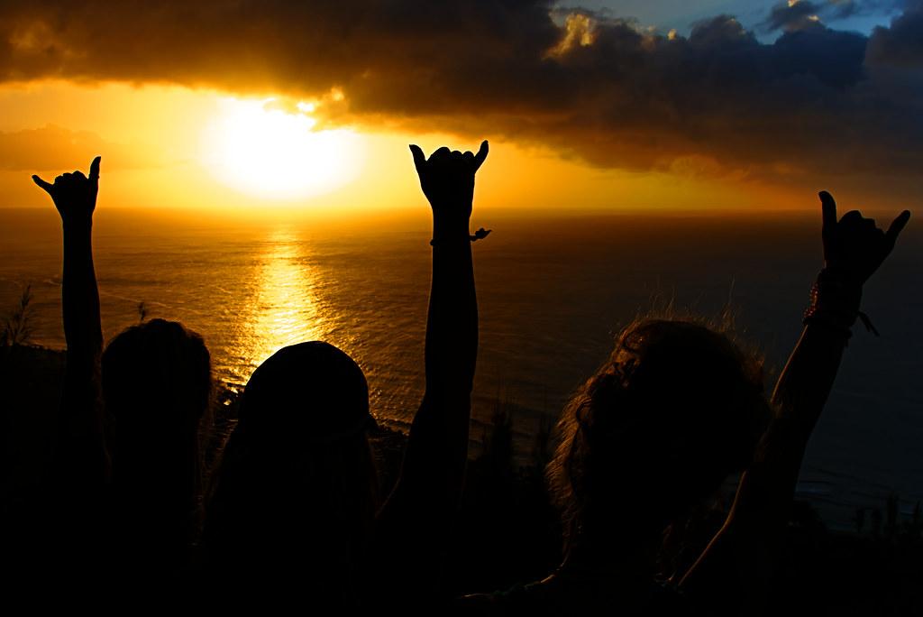 Shaka al tramonto