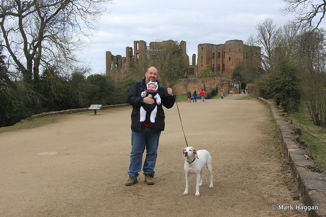 Me with my son and Berta at Kenilworth Castle